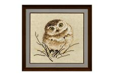 Cross stitch kit Little Owl