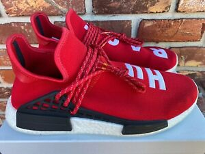 ADIDAS NMD x PHARELL HUMAN RACE RED SIZE US 12 [BB0616] 100% AUTHENTIC VNDS