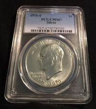 1976 S $1 Silver Eisenhower Dollar PCGS MS67