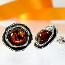 A210 Ohrringe Earrings 925 Sterling Silber Schmuck baltischer Bernstein Amber