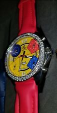 New Jacob & Co. 3.25ct VS Diamond Five Time Zone 47mm Watch with case & 3 bands