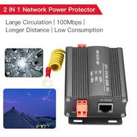 Network Power Lightning Arrester 100Mbps SPD Thunder Arrester CCTV System Guard