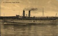 Puget Sound - Steamer Ship SS Kennedyc1910 Postcard