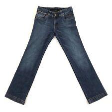 Rocawear Womens Jeans Stretch Boot Cut Embroiderer Dark Denim Sz 9/10 Waist 32