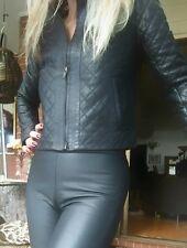 John & Yoko Lamb Leather Jacket Quilted sz 36/8-10