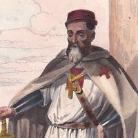 Jacques de Molay Ordre du Temple Maître Templiers Terre Sainte Saint Jean d'Acre