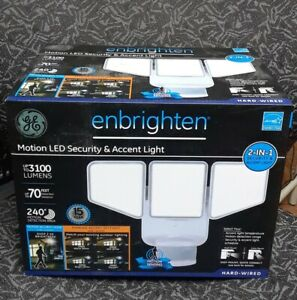 GE 240-Degree 3100-Lumen White LED Motion-Activated Flood Light with Timer#391