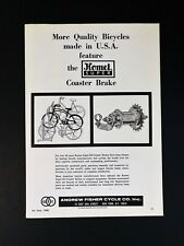 Vintage 1966 Andrew Fisher Cycle Komet Super Coaster Brake Full Page Original Ad