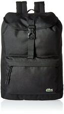 Lacoste Men's Flap Backpack Bag Black