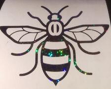 Manchester Bee car van window sticker decal vinyl glitter black we stand