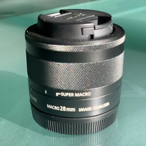 Canon EF-M 28mm f/3.5 Macro IS STM. Used 2 Times Only Almost Brand New