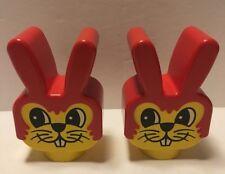 Lego Duplo 2 Rabbit Face Heads Faces