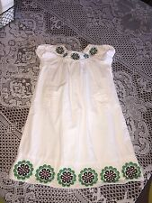Girls Clothes Gap Kids Batik Chic White Embroidered Floral Dress Toddler 5 Years