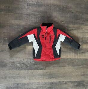 Obermeyer Ski Jacket Red Full Zip Pockets Boys Kids Size 6 Polyester Coat