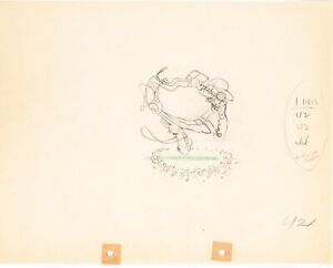 Two Gun Mickey (1934)  Disney original production drawing Mickey Mouse cel art