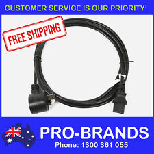 3m Piggyback IEC Plug 1.0mm Power Cable Lead Cord Jug Black Piggy Back 3-Metre