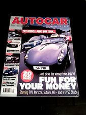 AUTOCAR MAGAZINE 30-JAN-02 - MG TF160, Volvo XC90, TVR Tuscan, MG ZR 160, Polo