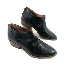 EUC Women's Lucky Brand low cut boots Black leather Sz 41 US 9.5