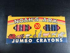 Vintage Noah'S Ark Jumbo Crayon United Co. Animals 20 pack