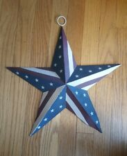 """Outdoor Barn Star American Flag Wall 15"""" Painted Metal Stars and Stripes"""