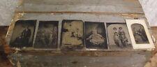 Lot of 6 Antique TinType Family Photos