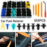 555pcs Car Body Trim Clips Retainer Bumper Rivet Screw Panel Push Fasteners Kit