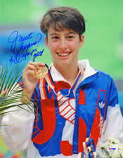 Janet Evans SIGNED 11x14 Photo +4 x Olympic Gold Swimmer ITP PSA/DNA AUTOGRAPHED