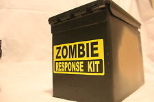 Zombie Response Kit Sticker! 3x6 inch! Pick Colors!! SHTF Vinyl Decal 4Ammo Can