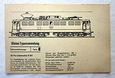 DDR Kleine Typensammlung Schienenfahrzeuge - 50-Hz-Lokomotive E 251