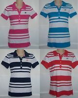 Womens AEROPOSTALE Striped Jersey Polo Shirt NWT #6456