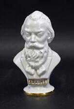 Porcelaine Buste Compositeur Brahms blanc/or Wagner & Apel H15cm 9942530