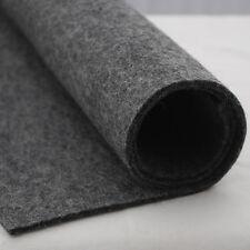 100% Wool Felt Fabric - 3mm Thick - Dark Grey European Felt - 1 Yard x 0.5 Yard