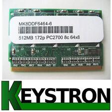 512MB PC2700 MicroDIMM Memory 4 Fujitsu Lifebook P7010