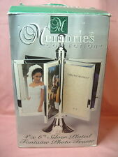 Memories Collection 4 x 6 Silver Plated 12 Picture Photo Frame NIB