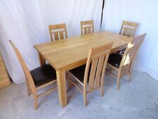 Oak Up to 6 Seats Unbranded Rectangular Table & Chair Sets