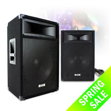 """Pair of VX 15"""" Active PA Speakers inc Cable 1200w Powered for Karaoke DJ System"""
