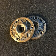Antique Pair Of Victorian Eastlake Cast Bronze Rosettes