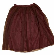 Plum Colored Tulle Skirt 7/8