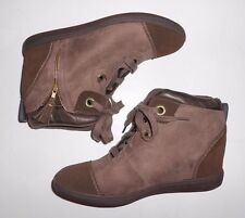 SKECHERS SKCH+3 Women's Size 11 Two Tone Hidden Wedge Brown Leather Ankle Boots