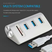 Rocketek 3 Port USB 3.0 Hub Splitter Adapter TF Card Reader for MacBook PC