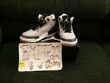 Air Jordan 3 Retro Wolf Grey GS Kids Youth 398614-004 Shoes US 4.5Y *NEW*