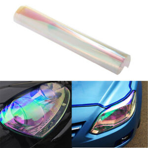 1pcs Car Fog light Tailights Chameleon Colorful Clear Tint Vinyl Film Cover