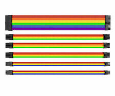 Thermaltake AC-049-CNONAN-A1 TtMod Sleeve Cable (Cable Extension) – Rainbow