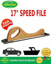 "HAND SPEED FILE BLOCK SANDING BOARD 17"" PANEL AUTO CAR DENT BOG SPEEDFILE"