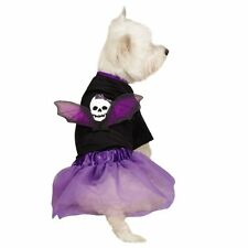 Casual Canine Skull Pet Costume - Purple - Size Small Only