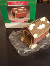 New In Box House of Lloyd Christmas around the World Porcelain Covered Bridge