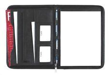 Schreibmappe A4 mit Reißverschluss, Kunstleder schwarz - von FIHA-Promotion