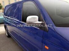 Per adattarsi 04-10 VOLKSWAGEN T5 TRANSPORTER CARAVELLE ABS Shiny Chrome Mirror Covers