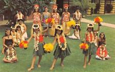 Hula Show Cast Napili Kai Beach Club Hotel Maui, Hawaii Vintage Postcard c1960s