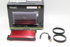 TEAC HA-P50 Portable Headphone Amplifier USB-red